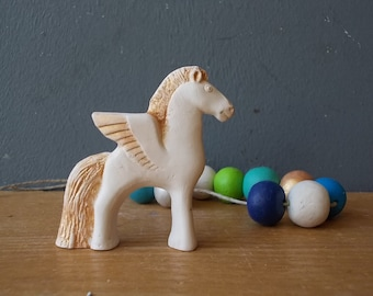 Miniature Pegasus / Ceramic Horse / Small Pegasus / Shelf Sitter / Wings / Woodland / Christmas gift