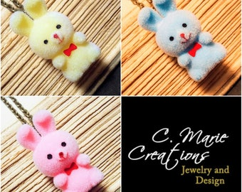 Kawaii Bunny Necklace - 3 Colors Available