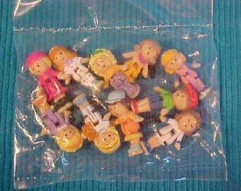 Polly Pockets Dolls 10 Pak Mattel Bluebird Promo 90s Style A HTF Rare Sealed Vtg