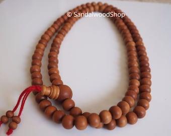 10mm--Genuine Fragrant Sandalwood Mala Buddhist Prayer Beads Rosary India