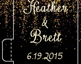 24 Wedding Lip Balm - Black and Gold Wedding - Black Gold Bridal Shower - Wedding Favors - Bridal Shower Favors