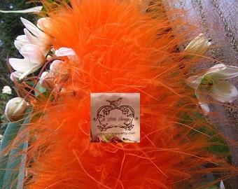 Orange Marabou Boa feathers