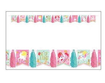 Unicorn Party Banner, party decoration, party banner, party supplies, unicorn party, celebration banner, UK seller, unicorns