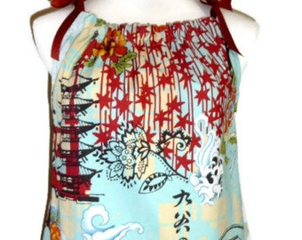 Pillowcase DRESS or TOP - Alexander Hnery - Koto - Made in ANY Size - Boutique Mia