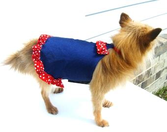 DOG BATHING SUIT, Dog Red n Blue Bathing Suit, Dog swimm wear, Summer beach clothes
