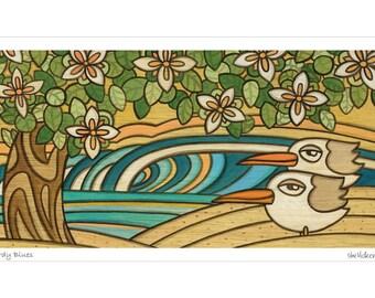 Birdy Blues - Art Print