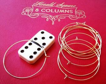 gold hoop earrings -  earwire  - 10 pieces - 45mm