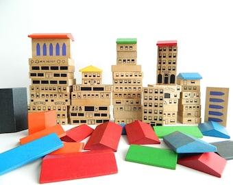 RESERVED:  Vintage City Building Blocks