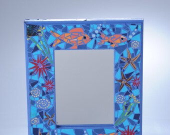 Mosaic decoupage mirror