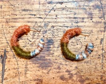 Earrings- Yarn Hoops