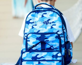 Cool Camo Monogrammed Personalized Backpack and/or Lunchbox