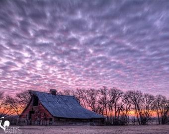 Barn Sunrise, Pink Morning Sunrise