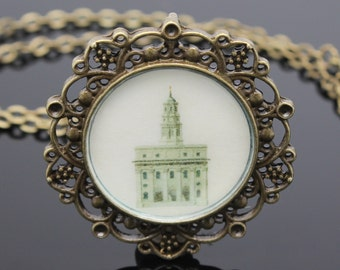 Sale!! Nauvoo Temple necklace, pendant or key chain. FREE SHIPPING!!!