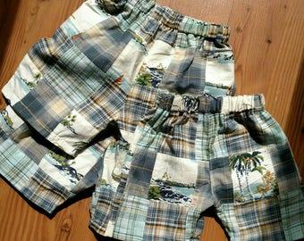 Boys Madras plaid shorts
