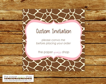 Made to Match Custom Invitation | Made to Match Party Printables | Custom Invitation | Birthday Party | Baby Shower | Bridal Shower