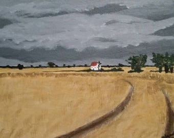 Shelter - Acrylic Painting - Storm - ready to ship!