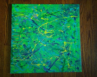 """24""""×24"""" Splash Abstracts- Abstract painting wall art"""
