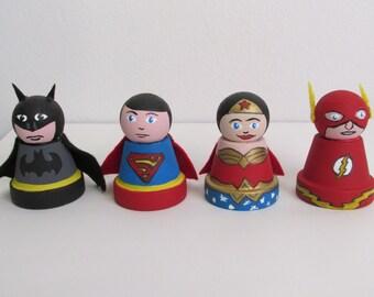 Miniature Clay Pot Super Heroes