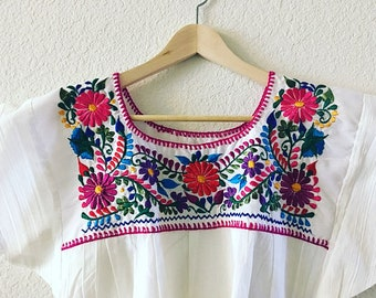 M- L Embroidered Mexican Blouse
