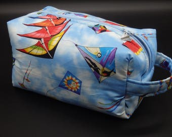 Kite Bag, Kiting Bag, Zip Pouch, Kites Toy Bag, Ditty Bag, Toiletry Kit, Shave Kit, Kite Flying Gifts, Travel Case, Gifts for Boys