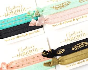 YOU DESIGN Boho Bachelorette Hair Tie Favors | Bohemian Party Favors, Wedding + Bridal Shower Favors, Personalized Hair Tie Favors
