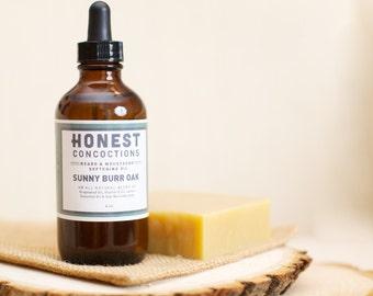 BackOrdered! Beard Care Set: SUNNY BURR OAK Beard Oil & Shampoo Bar