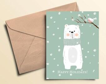 Polar Bear Holiday Cards