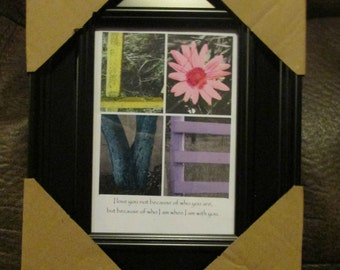 LOVE Talking Treasures Framed Photo Word Art
