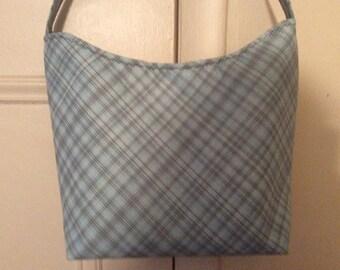 Green/Brown Plaid Handbag
