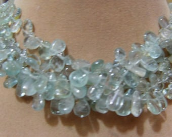 1 Strand  Aquamarine Natural  Plane Layout    beads  7'' 12, grams  Approx