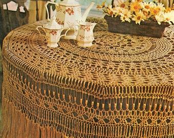 Thread Crochet Pattern / Crochet Tablecloth Pattern / Crochet Home Decor / Housewarming Gift Idea / INSTANT Download Pattern PDF (1702)