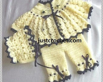 Coat, bonnet and bloomers Baby Crochet Pattern (DOWNLOAD) 27