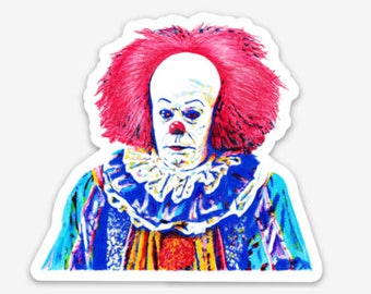 IT Stephen King // Pennywise Clown // IT Clown // Movie Clown // Scary Horror Clown // Tim Curry Clown // We all float down here / Halloween