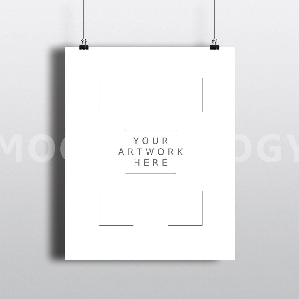 Maqueta de papel de 8 x 10 colgante Vertical marco Clips de