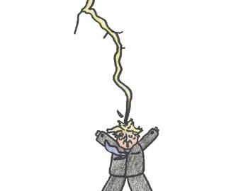 Trump Getting Struck By Lightning