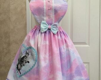 Unicorn Cat Lolita Apron Skirt