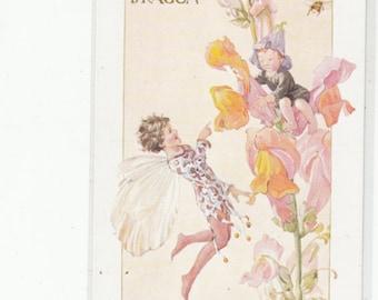 """Margaret Tarrant Unused Antique Postccard """"Snap Dragon"""""""