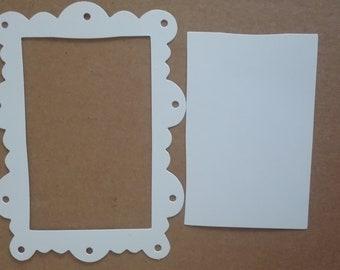 6 x Scallop Ornate Frame Die Cuts