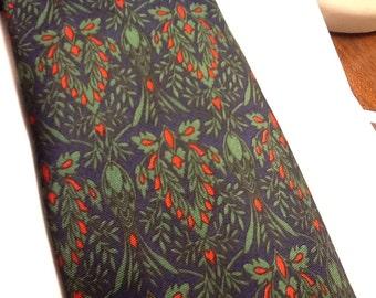 Vintage SMITHSONIAN INSTITUTE Tie Silk Tie Italy Smithsonian Institution Tie Blue Green Red