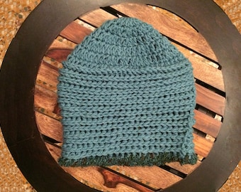 Blue Crocheted Cap