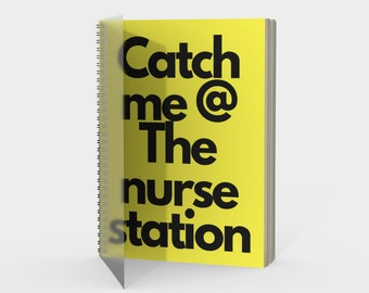 Yellow catch me notebook