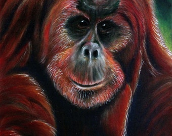 Orangutan Painting - *DONATION* made with purchase
