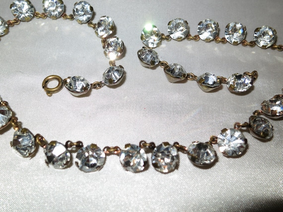 Stunning vintage Art Deco 1940s  rhinestone necklace