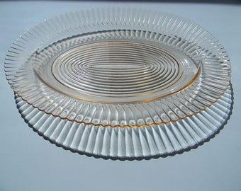 Pink Petalware Oval Platter