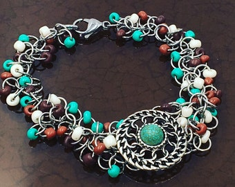 Southwestern Style Chainmaille Bracelet