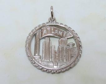 Vintage Sterling Silver Atlanta Charm