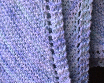 Unisex knit baby blanket