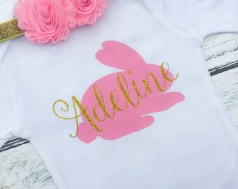Pink Easter Baby, Pink Easter Shirt, Easter Baby Outfit, First Easter Outfit,  Baby Easter Outfit, Baby Easter Shirt, First Easter Shirt