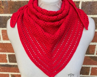Crochet Triangle Scarf