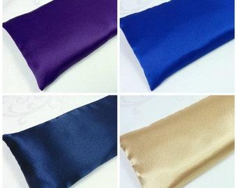 "Extra Big Satin Eye Pillow 5""x12"" Yoga Eye Pillow, Lavender Eye Pillow or Unscented Eye Pillow"